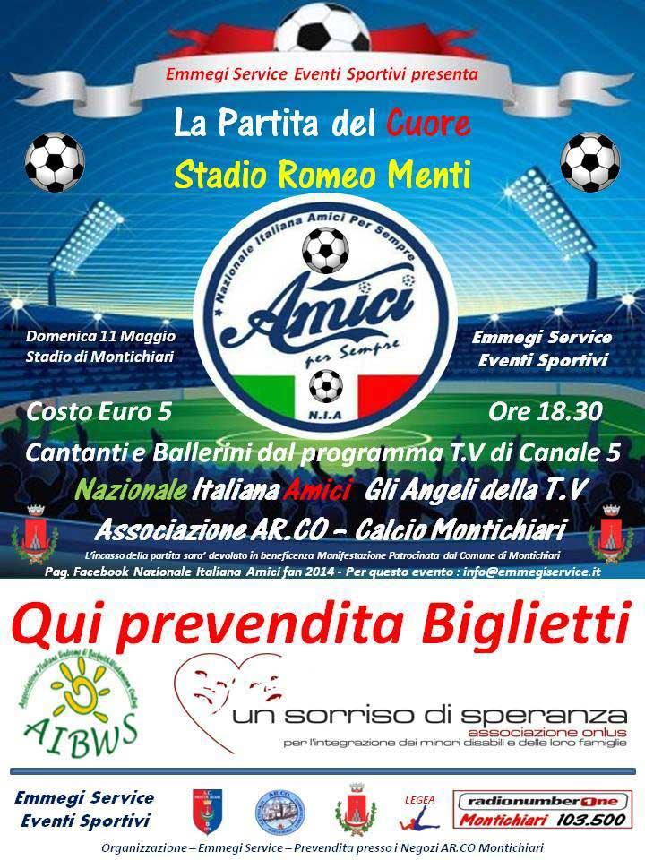 """Montichiari, la """"Partita del Cuore"""" 11 Maggio 2014"""