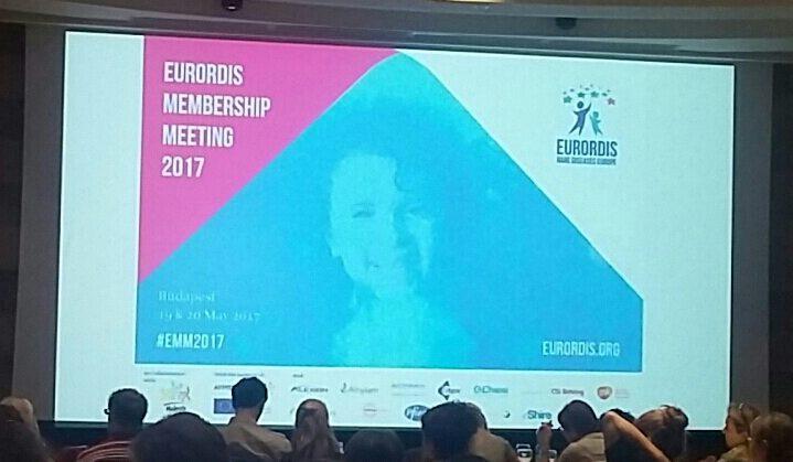 BUDAPEST -Rare Diseases Europe – Eurordis Membership Meeting 18-5-2017 AIBWS presente !