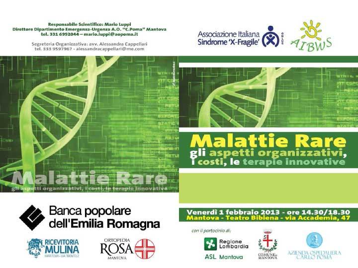 "Mantova ""Malattie Rare "" 1 febbraio 2013"