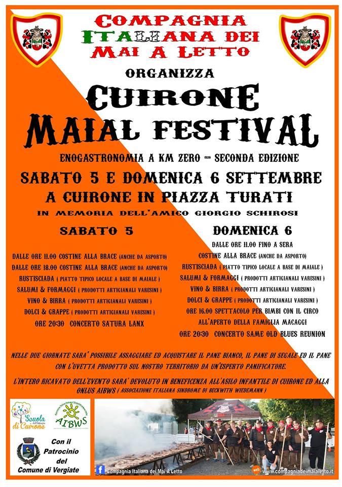 CUIRONE MAIAL FESTIVAL 5/6 SETTEMBRE 2015